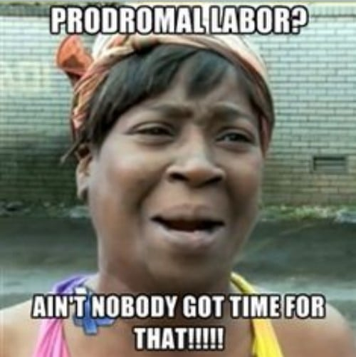 prodromal labor and real labor