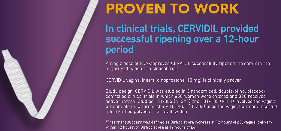 how effective is cervidil